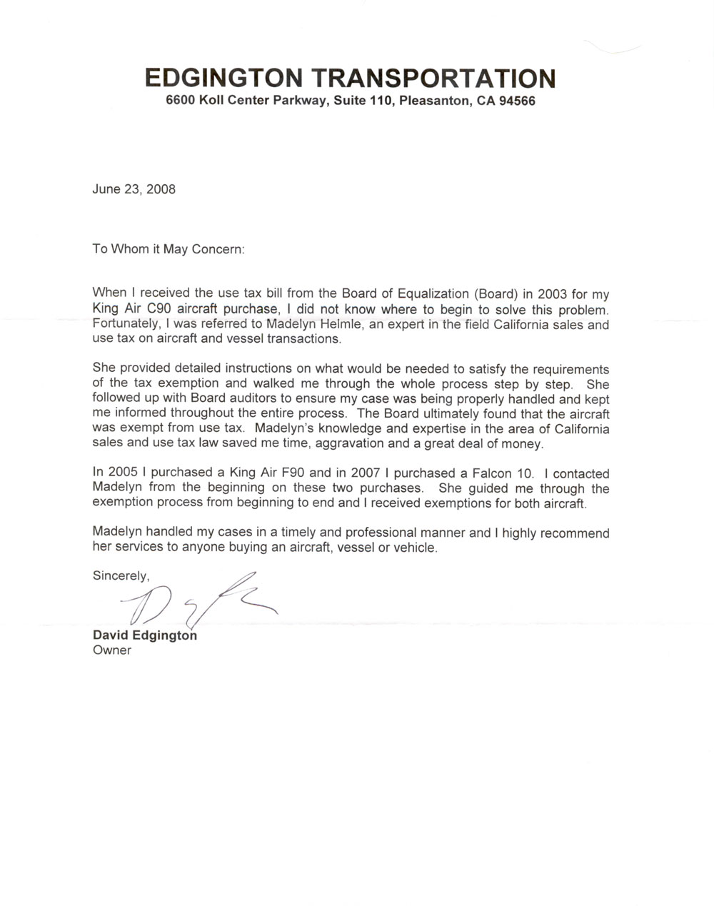 Reference Letter Template – Free Sample Professional Letter of Recommendation