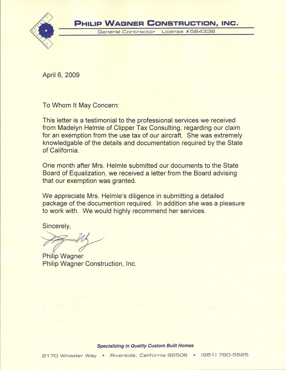 Clipper Tax Consulting | Testimonials